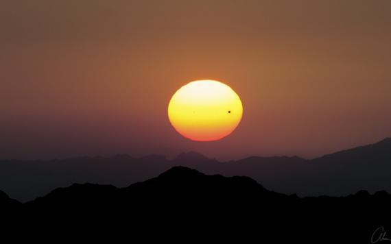 Transit of Venus 2012: Sunset